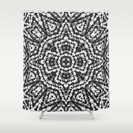 Black and white geometric pattern . The Maltese cross . Shower Curtain