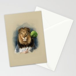 The lion's share Stationery Cards