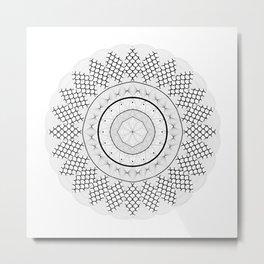 Mandala v1 Metal Print