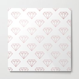 Simply Shimmer Diamonds in Rose Gold Sunset Metal Print