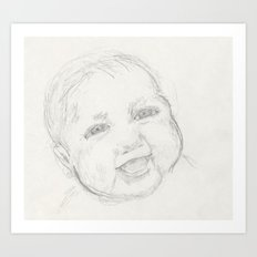 Happiness Baby Art Print