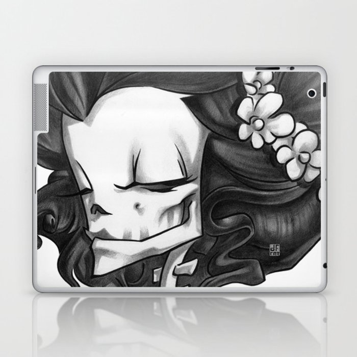 Madame Muerte B&W Laptop & iPad Skin