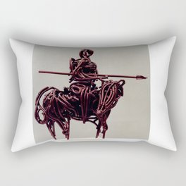Don Quixote by Shimon Drory Rectangular Pillow