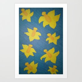 Pop Art Daffodils Art Print