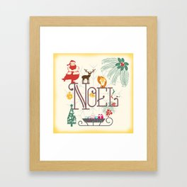 Christmas Noel Framed Art Print