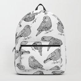 Little Birds Black & White Backpack