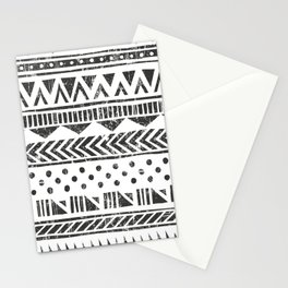 Vintage ethnic style hand drawn illustration pattern . Aztec geometric style Stationery Cards