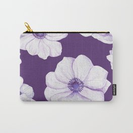 Anemones 2 Purple #society6 #buyart Carry-All Pouch