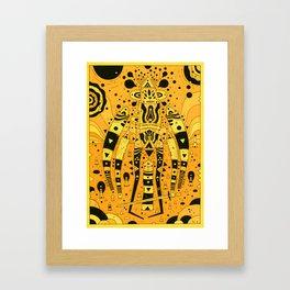 wanderer (orange planet) Framed Art Print