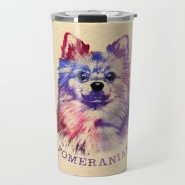 Cute Pomeranian German Spitz Travel Mug