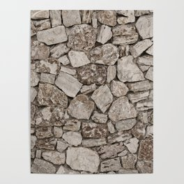 Old Rustic Stone Wall Poster