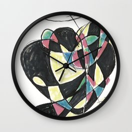 Dancing Flowers by Christiane Wall Clock