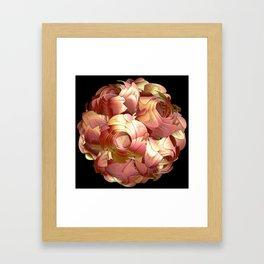 Paper Rose Framed Art Print