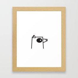 Minimalist Raccoon Framed Art Print