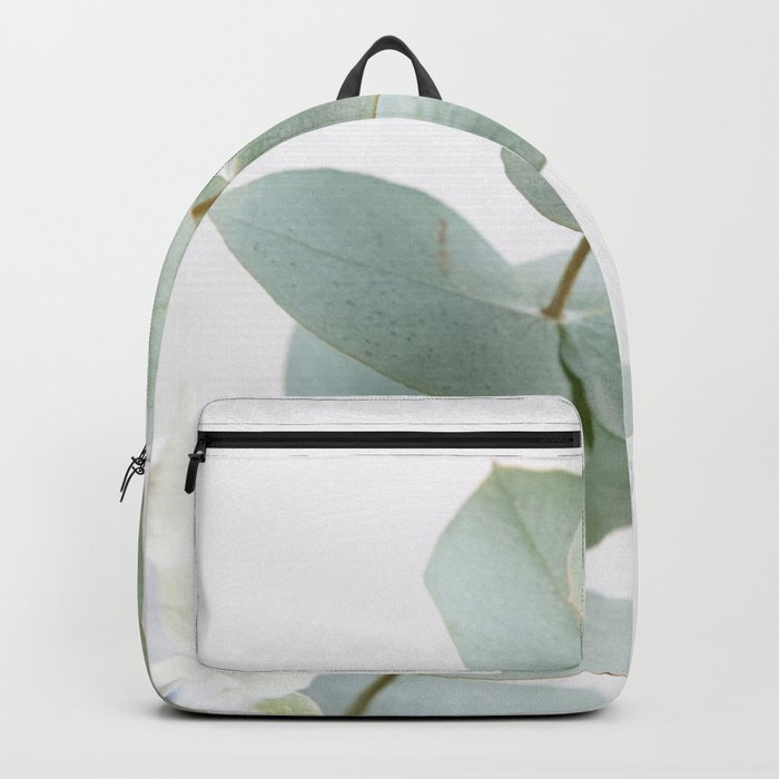 Gentle Soft Green Leaves #1 #decor #art #society6 Backpack