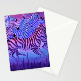 Flying above the sky. Stationery Cards