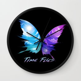 TIme Flyes Wall Clock