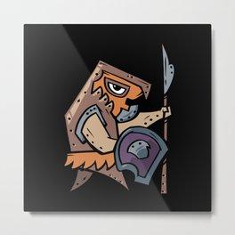 Mayan warrior Metal Print