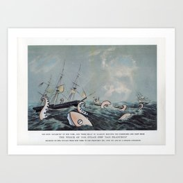 Wreck of the Steamships Art Print