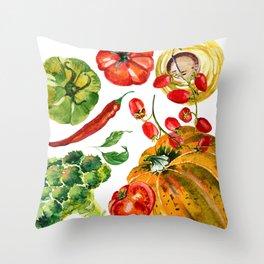 Vegetable mix Throw Pillow