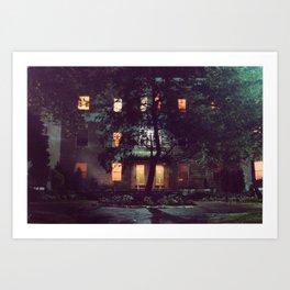 Allston at Night Art Print