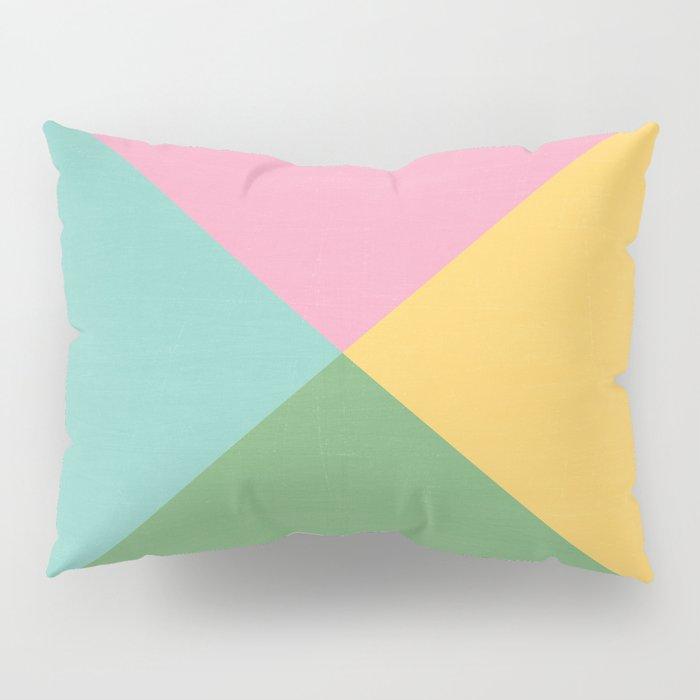 four triangles - spring Pillow Sham