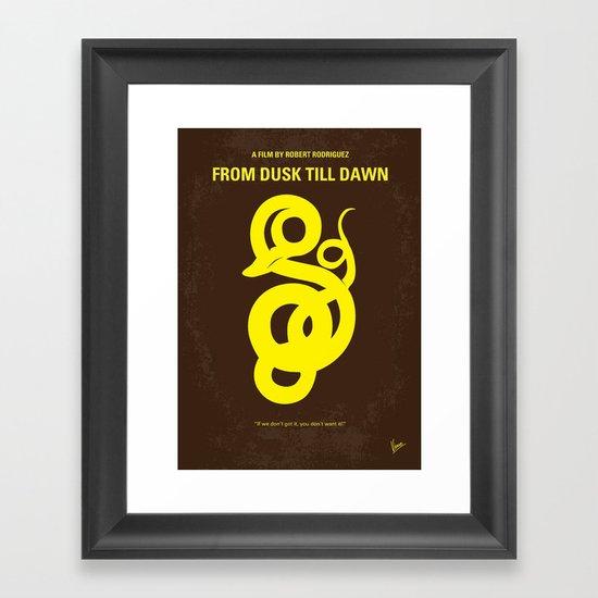 No127 My FROM DUSK TILL DAWN minimal movie poster Framed Art Print
