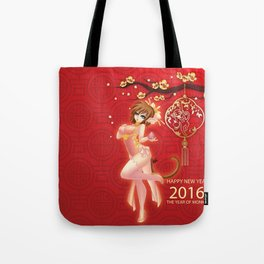 Year of the Fire Monkey Tote Bag