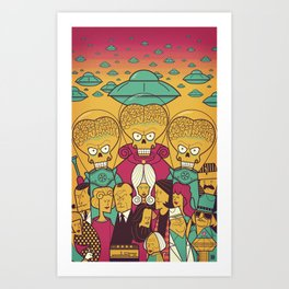 Mars Attacks! Art Print