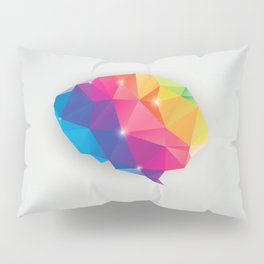 Geometric brain Pillow Sham