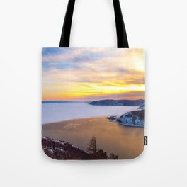 Lake Baikal and Angara River Tote Bag