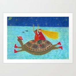Ozzi and Lulu Snorkelling Art Print