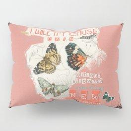 ISAIAH 66:9  Abstract Scripture Collage Art Butterflies Bible Verse Pillow Sham