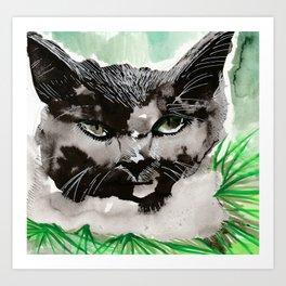Cat in Forest Art Print