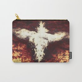 Fantasy artwork. Angel or Damon? Winged crature with crown. Carry-All Pouch