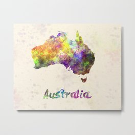 Australia  in watercolor Metal Print