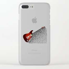 Musical Guitar Background Clear iPhone Case