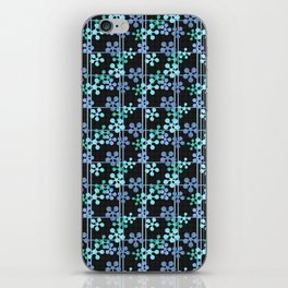 Black blue green abstract pattern iPhone Skin