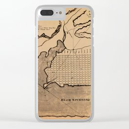Map of Alexandria 1798 Clear iPhone Case