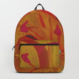 Yellow Lily Up Close Solarized Colors #3 Backpack