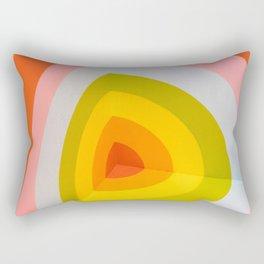 Multi Colour Corner Wall Art Rectangular Pillow
