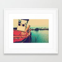 boat Framed Art Prints featuring Boat by AJAN