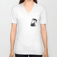 la V-neck T-shirts featuring LA by TRUJI