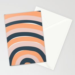Rainbow stripes minimal art Stationery Cards