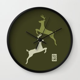 Deers Militar Wall Clock