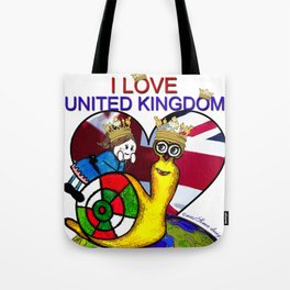Monsieur Jac & Lily love UK  Tote Bag