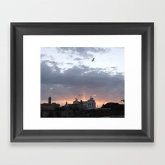 Flying over Rome Framed Art Print