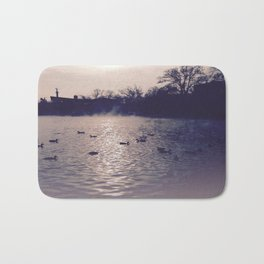 Winter lake Bath Mat
