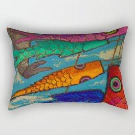 African American Masterpiece 'Chinese Kites' by Ellis Wilson Rectangular Pillow