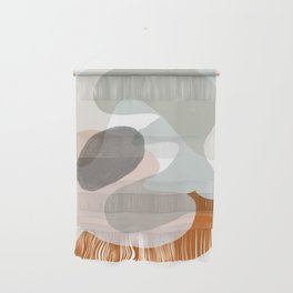 Shapes and Layers no.15 - soft neutral colors Wall Hanging